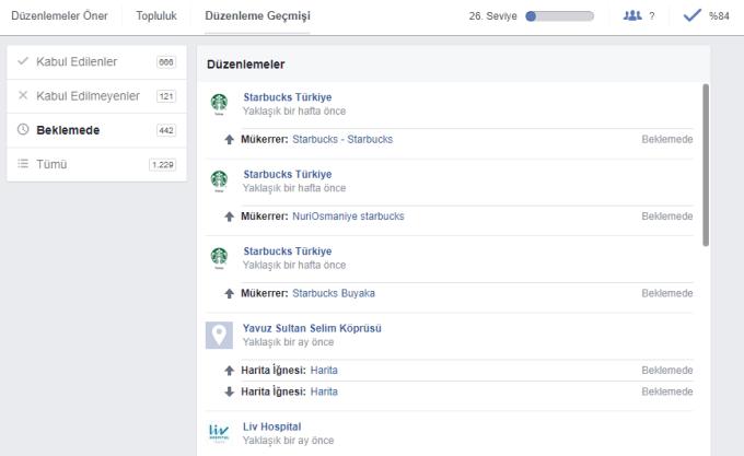 Facebook Düzenleme Öner